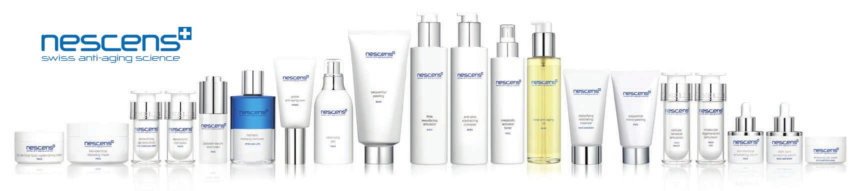 Nescens Cosmeceutic Products Banner