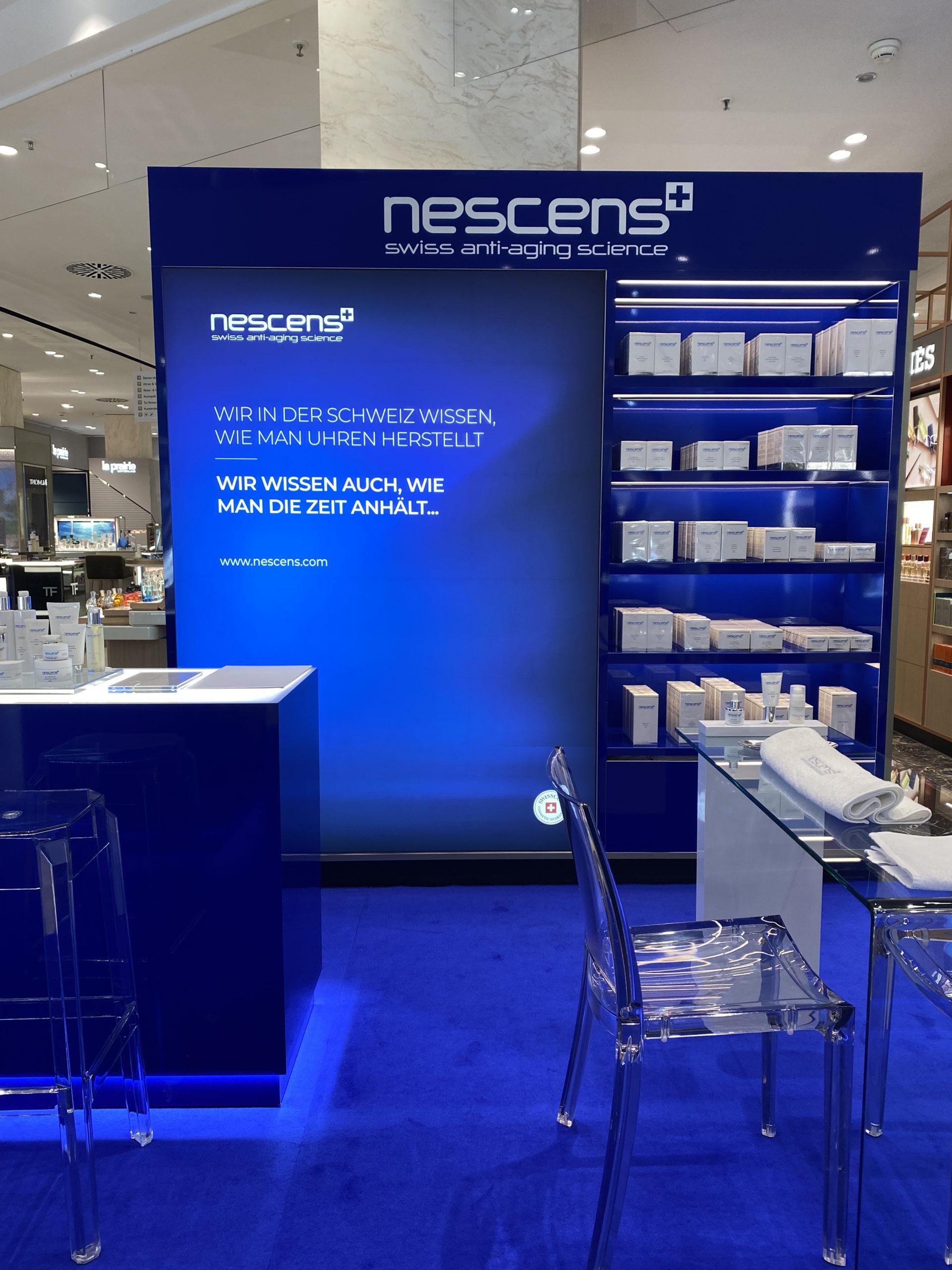 Exhibición nueva Nescens en la lujuriosa tienda departamental Jelmoli en Zurich 5