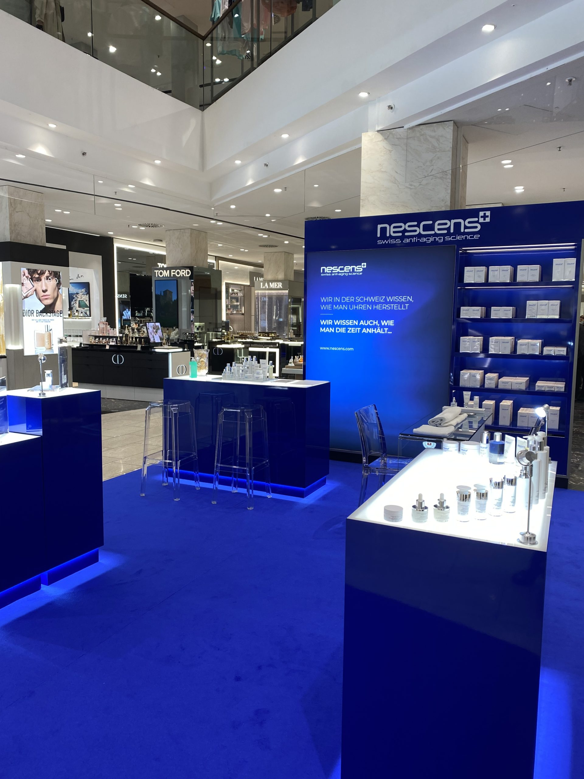 Nescens counter in the luxurious Department store Jelmoli in Zurich