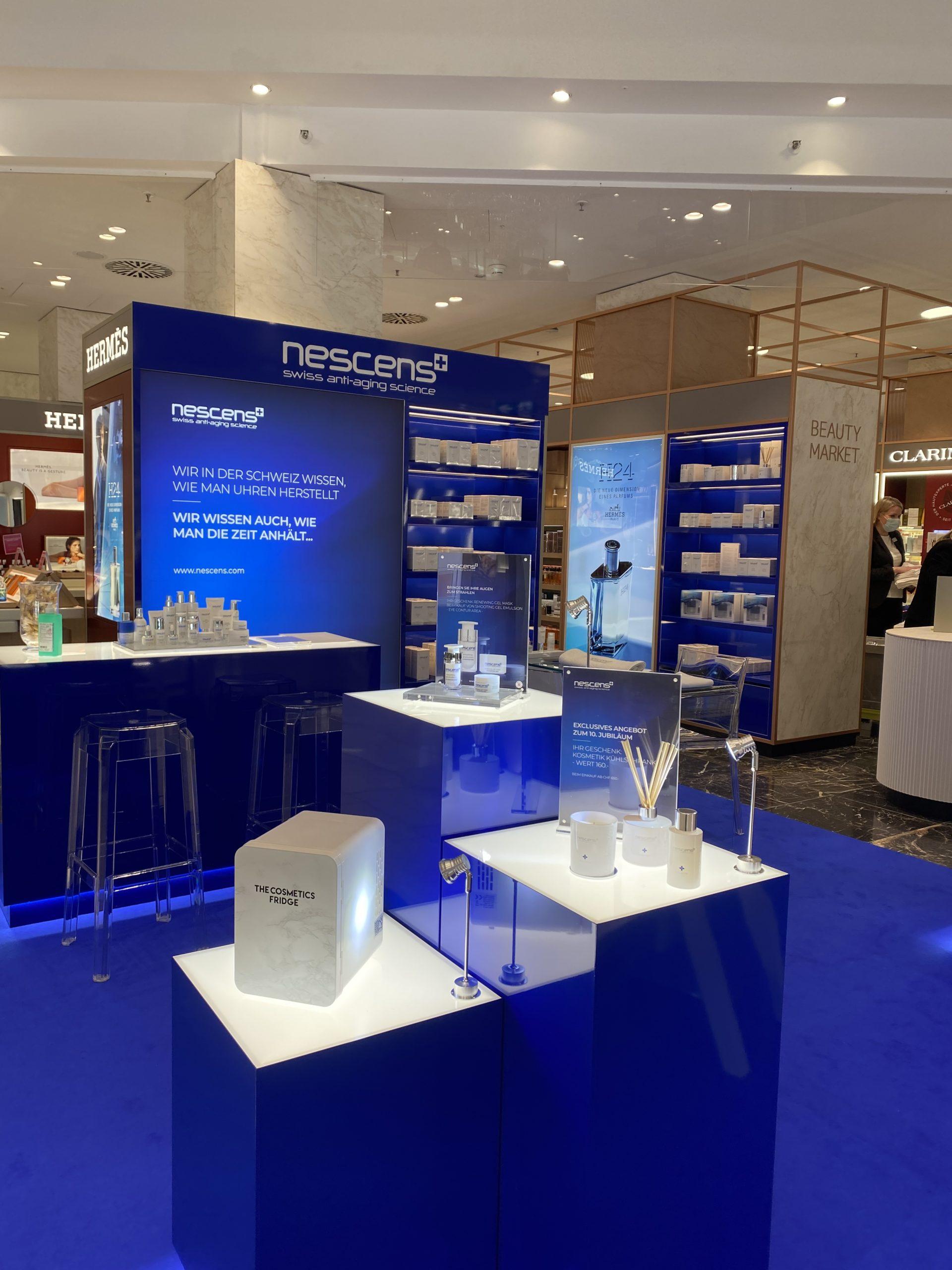 Exhibición nueva Nescens en la lujuriosa tienda departamental Jelmoli en Zurich 2